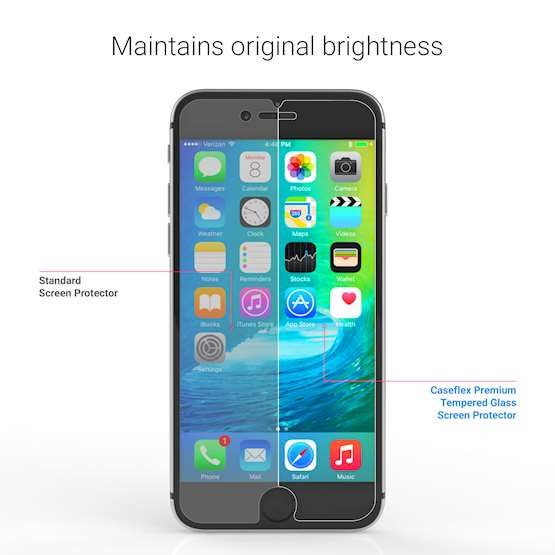 Caseflex iPhone 6 and 6S Glass Screen Protector - Twin