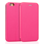 Caseflex iPhone 6 and 6s Leather-Effect  Stand Wallet with Felt Lining  - Pink