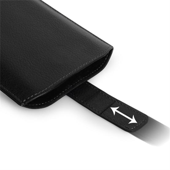 Caseflex Small Textured Faux Leather Return Phone Pouch - Black