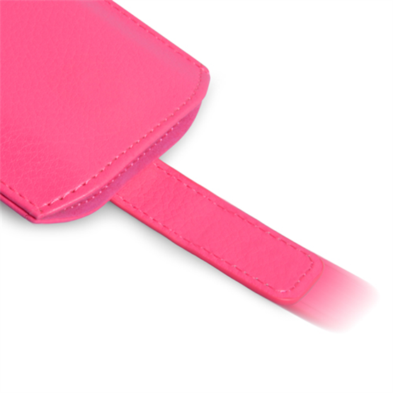 Caseflex Large Textured Faux Leather Return Phone Pouch - Pink