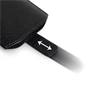 Caseflex Large Real Leather Return Phone Pouch - Black