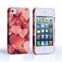 Caseflex  iPhone 4 / 4S Shimmering Hearts Case - Red