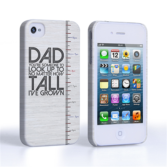 Caseflex iPhone 4 / 4S Dad Growing Up Quote Case/Cover