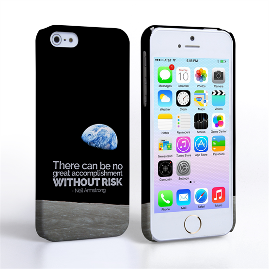 Caseflex iPhone SE Neil Armstrong Quote Case