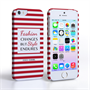 Caseflex iPhone SE Chanel 'Fashion Changes' Quote Case – Red and White