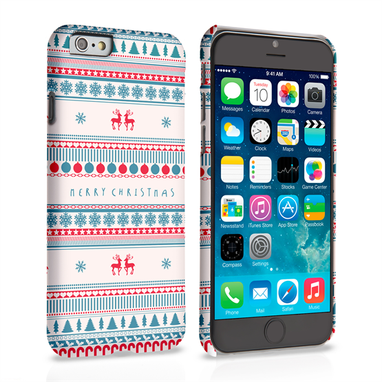 Caseflex iPhone 6 and 6s Merry Christmas Reindeer Snowflake Pattern Hard Case