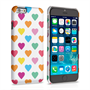 Caseflex iPhone 6 and 6s Polka Hearts Pastel Case