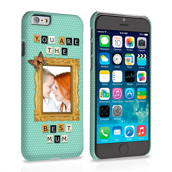 Caseflex iPhone 6 and 6s 'You are the best Mum' Personalised Hard Case – Blue