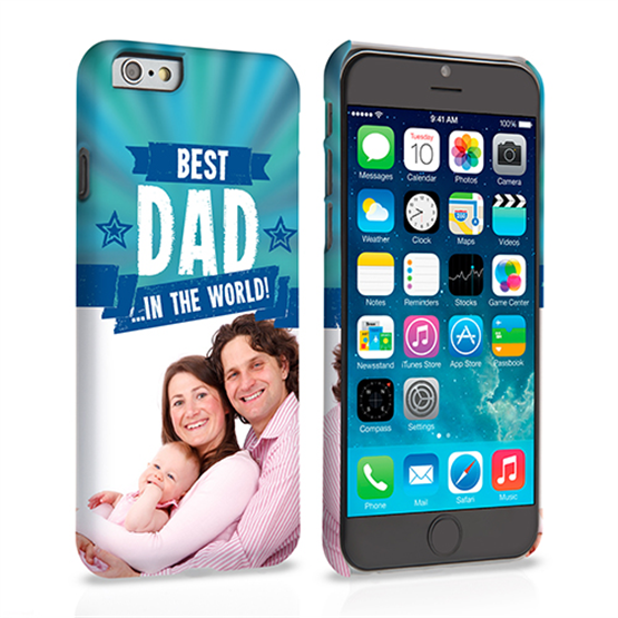 Caseflex iPhone 6 and 6s Best Dad in the World (Blue) Case/Cover