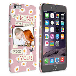 Caseflex iPhone 6 and 6s Plus 'If Mums Were Flowers' Personalised Hard Case – Pink
