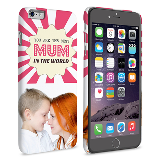Caseflex iPhone 6 and 6s Plus 'Best Mum in the World' Personalised Hard Case – Pink