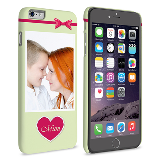 Caseflex iPhone 6 and 6s Plus Mum Heart Personalised Hard Case – Pink