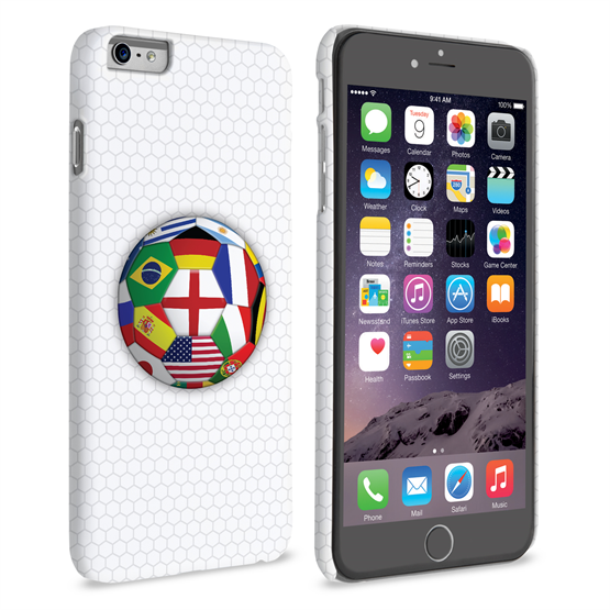 Caseflex iPhone 6 Plus and 6s Plus Flags World Cup Case