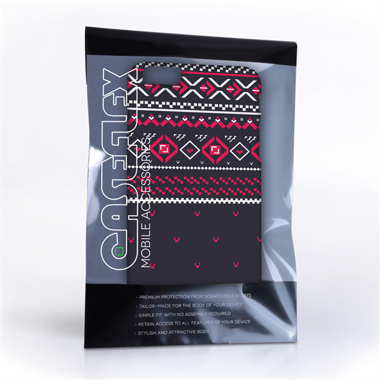 Caseflex iPhone 6 and 6s Plus Fairisle Case – Grey and Red Half Pattern