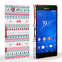Caseflex Sony Xperia Z3 Compact Merry Christmas Reindeer Snowflake Pattern Hard Case