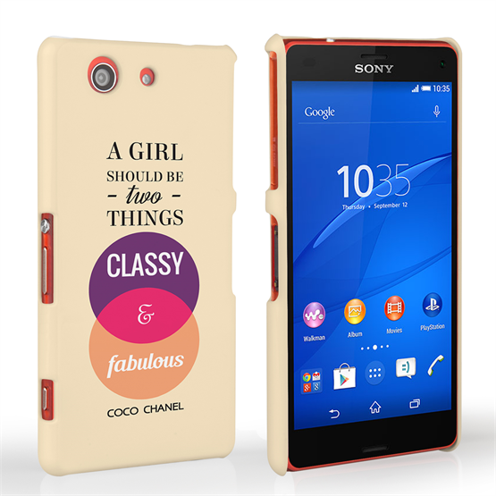 Caseflex Sony Xperia Z3 Compact Chanel 'Classy and Fabulous' Quote Case