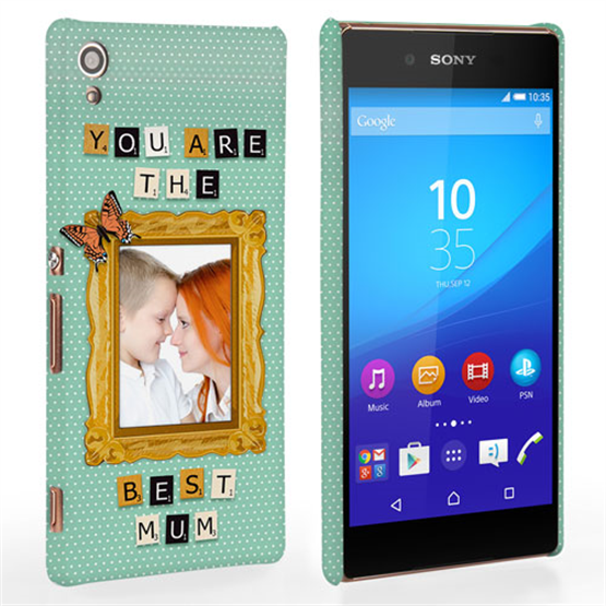 Caseflex Sony Xperia Z3 Plus 'You are the best Mum' Personalised Hard Case – Blue