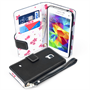 Caseflex  Samsung Galaxy S5 Mini Leather-Effect Wallet Case – Black with Floral Lining