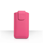 Caseflex Small Textured Faux Leather Pouch - Hot Pink